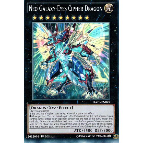 Neo-Galaxieaugen-Cipher-Drache - RATE-EN049 - Super Rare