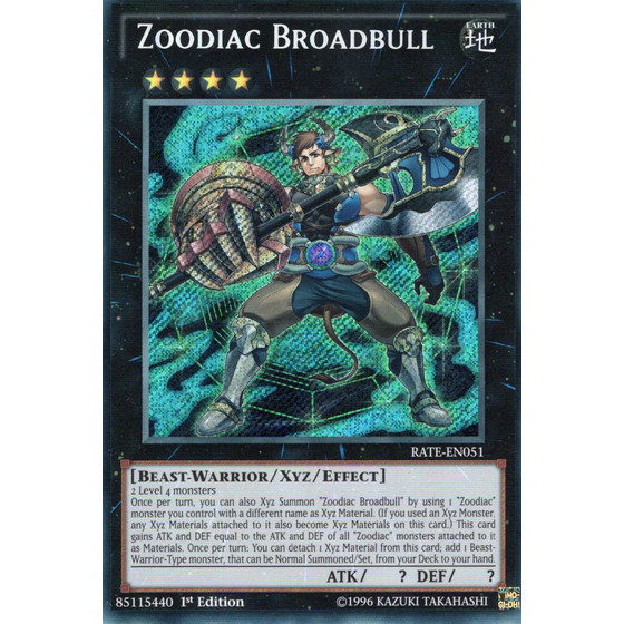 Zoodiak-Breitbulle - RATE-EN051 - Secret Rare