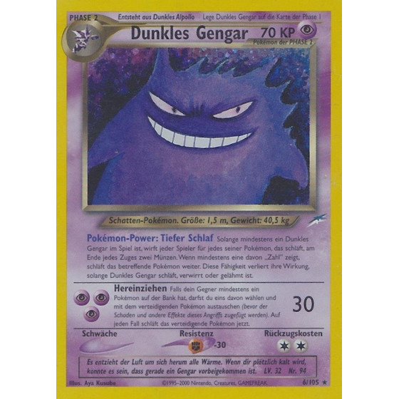 Dunkles Gengar - 6/105 - Holo