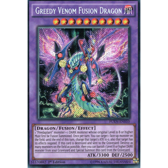 Greedy Venom Fusion Dragon - FUEN-EN010 - Secret Rare