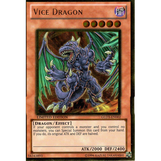 Vice Dragon - GLD3-EN002 - Gold Rare