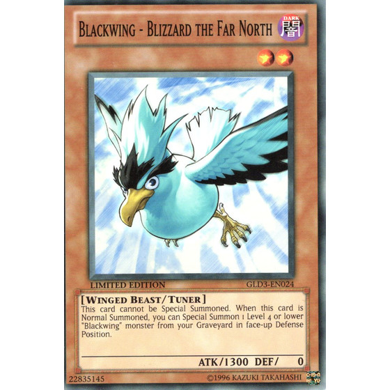 Blackwing - Blizzard the Far North - GLD3-EN024 - Common