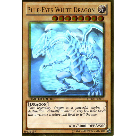 Blue-Eyes White Dragon - GLD5-EN001 - Ghost/Gold Rare
