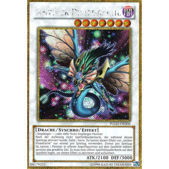 Antiker Pixiedrache - PGLD-DE006 - Gold Secret Rare