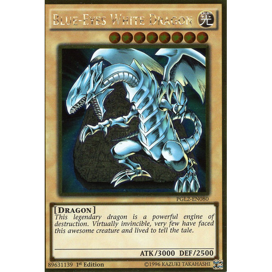 Blue-Eyes White Dragon - PGL2-EN080 - Gold Rare