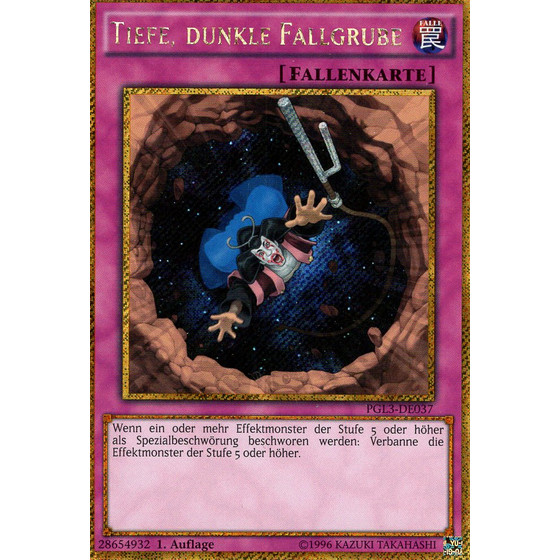 Tiefe, dunkle Fallgrube - PGL3-DE037 - Gold Secret Rare