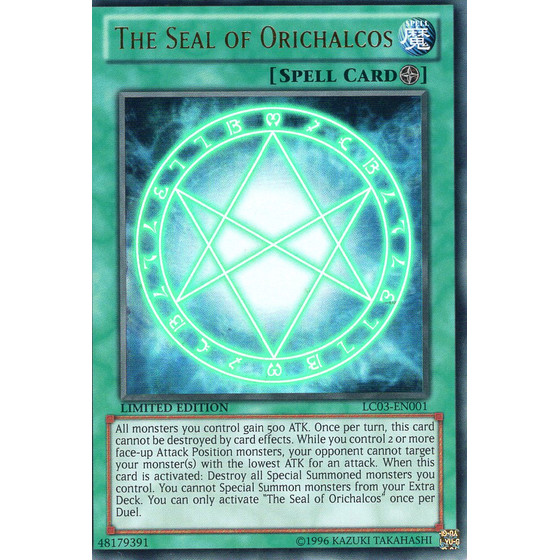 The Seal of Orichalcos - LC03-EN001 - Ultra Rare