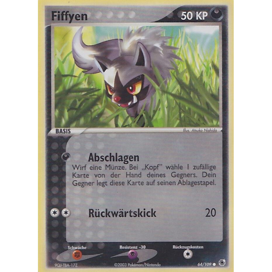 Fiffyen Deutsch Pokemon EX Rubin /& Saphir 64//109