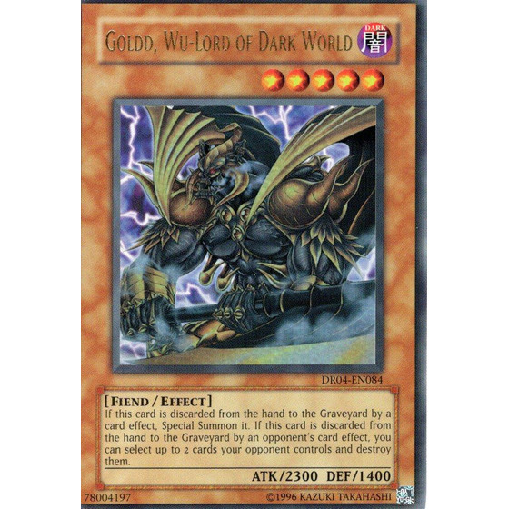 Goldd, Wu-Lord of Dark World - DR04-EN084 - Ultra Rare