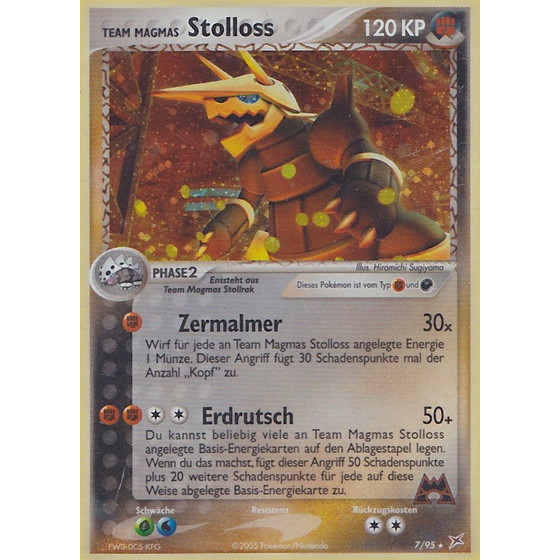 Team Magmas Stolloss - 7/95 - Holo