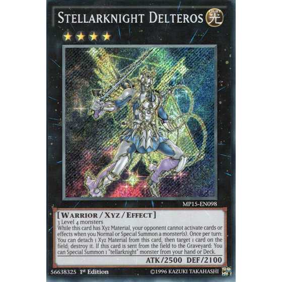 Wandelsternritter Delteros - MP15-EN098 - Secret Rare