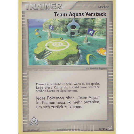 Team Aquas Versteck - 78/95 - Uncommon