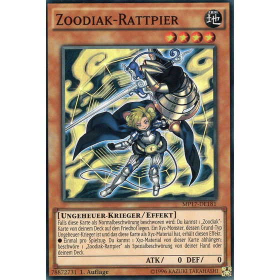 Zoodiak-Rattpier - MP17-DE181 - Super Rare