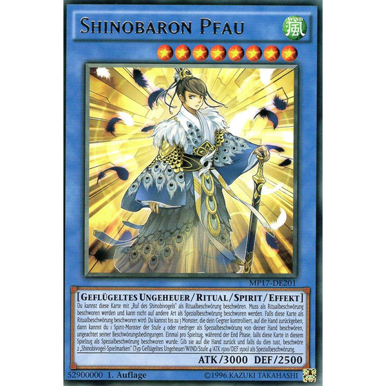 Shinobaron Pfau - MP17-DE201 - Rare