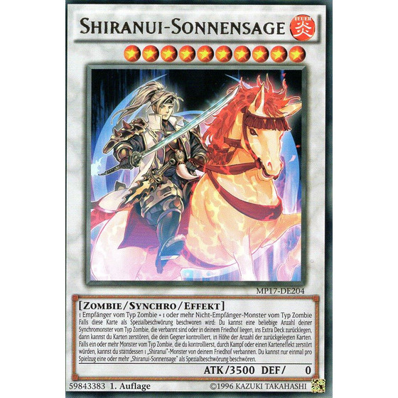 Shiranui-Sonnensage - MP17-DE204 - Rare