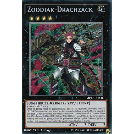 Zoodiak-Drachzack - MP17-DE208 - Secret Rare
