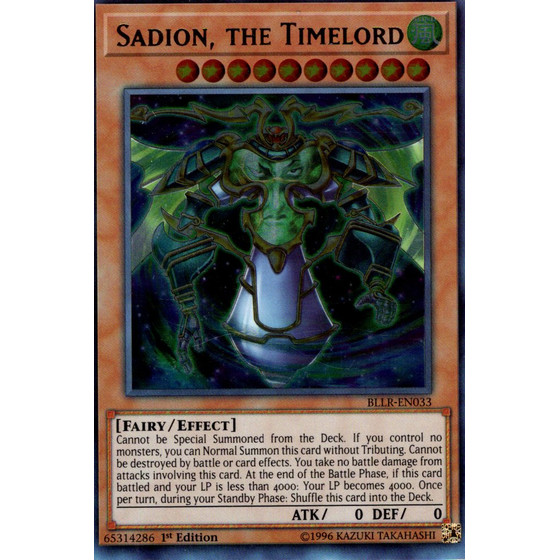 Sadion, the Timelord - BLLR-EN033 - Ultra Rare