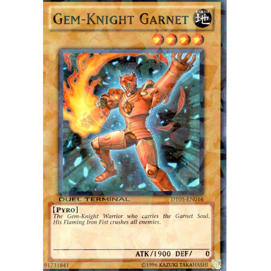 Gem-Knight Garnet - DT05-EN016 - Duel Terminal Normal...