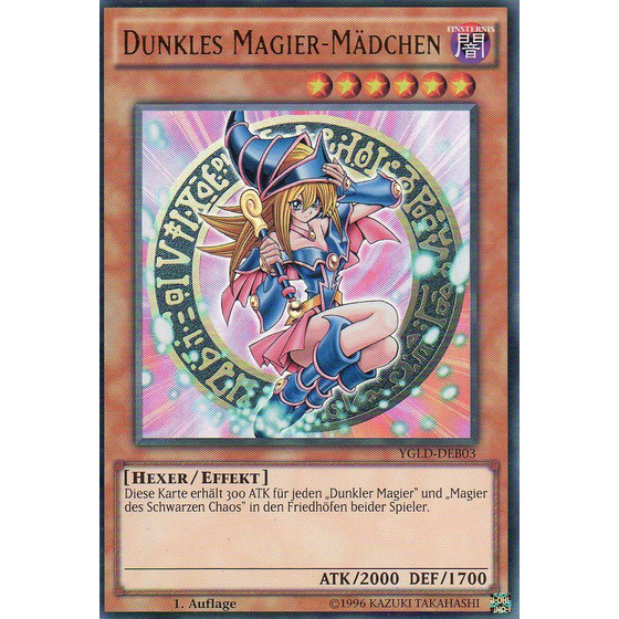 Dunkles Magier-Mädchen - YGLD-DEB03 - Ultra Rare