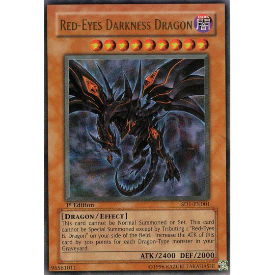 Red-Eyes Darkness Dragon - SD1-EN001 - Ultra Rare