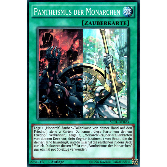 Pantheismus der Monarchen - SR01-DE023 - Super Rare