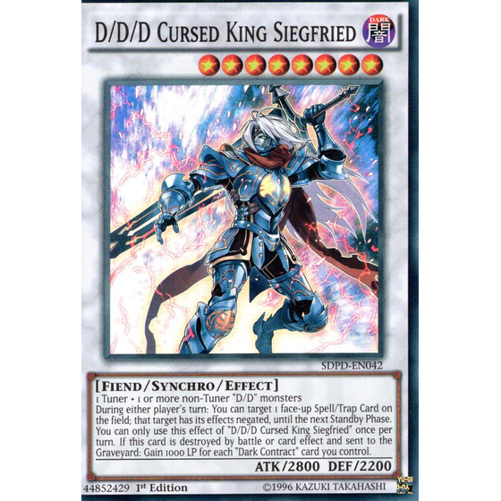 D/D/D Cursed King Siegfried - SDPD-EN042 - Super Rare