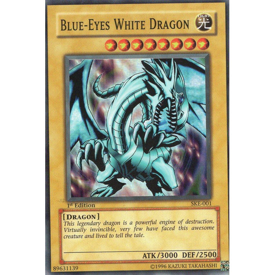 Blue-Eyes White Dragon - SKE-001 - Super Rare