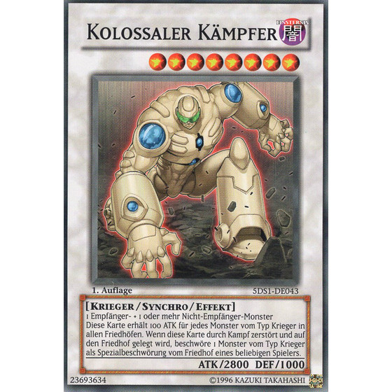 Kolossaler Kämpfer - 5DS1-DE043 - Super Rare