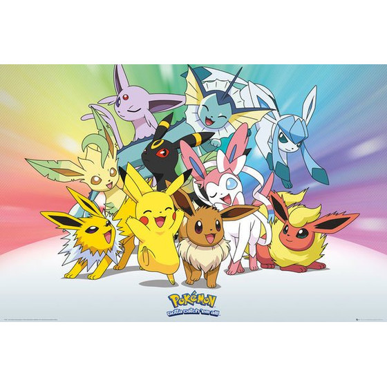 Pokemon Poster - Eeveelutions