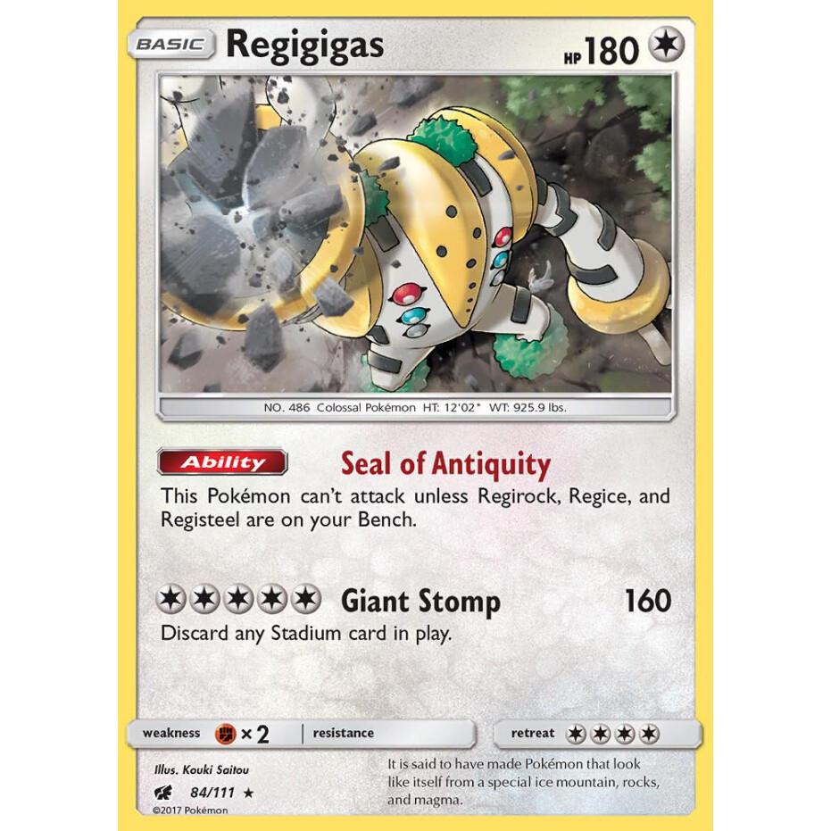 84//111 Pokemon: Regigigas Rare Holo Crimson Invasion