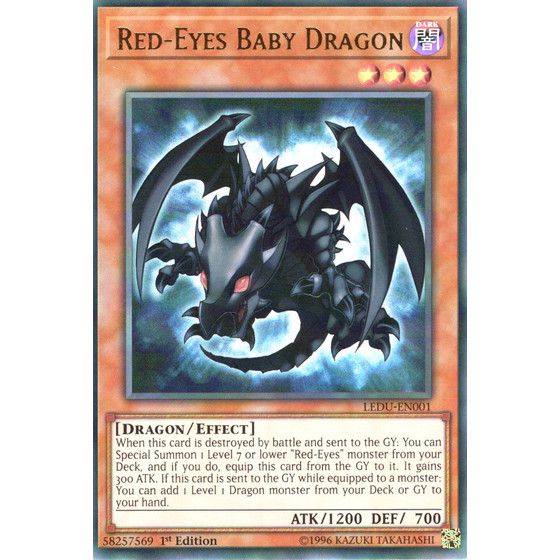 Red-Eyes Baby Dragon - LEDU-EN001 - Ultra Rare
