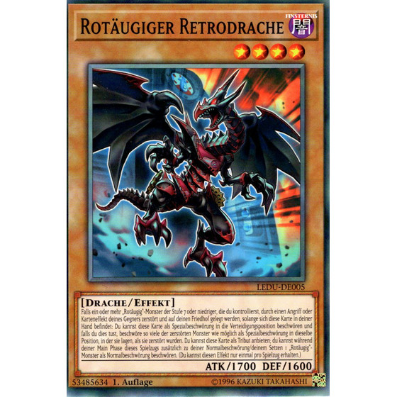 Rotäugiger Retrodrache - LEDU-DE005 - Common