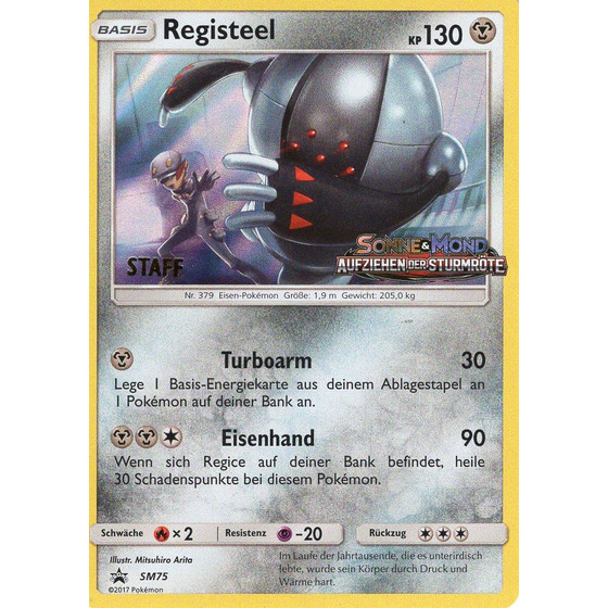 Registeel - SM75 - STAFF Promo
