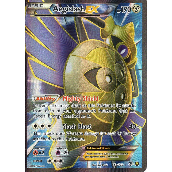 Aegislash-EX - 65a/119 - Fullart - Alternate Art