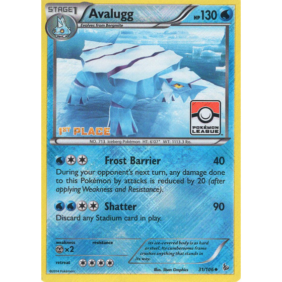Avalugg - 31/106 League Challenge 1st Place - Holo