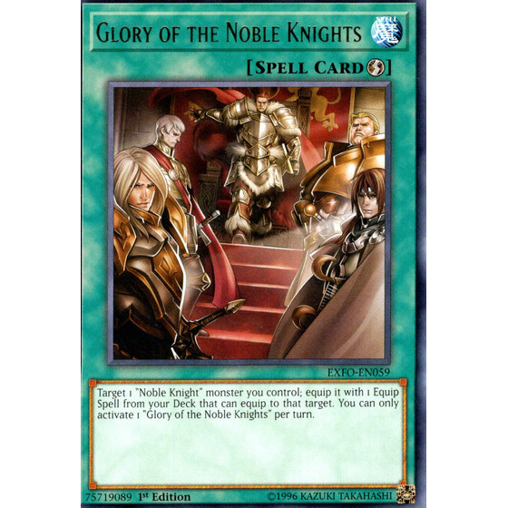 Glory of the Noble Knights - EXFO-EN059 - Rare