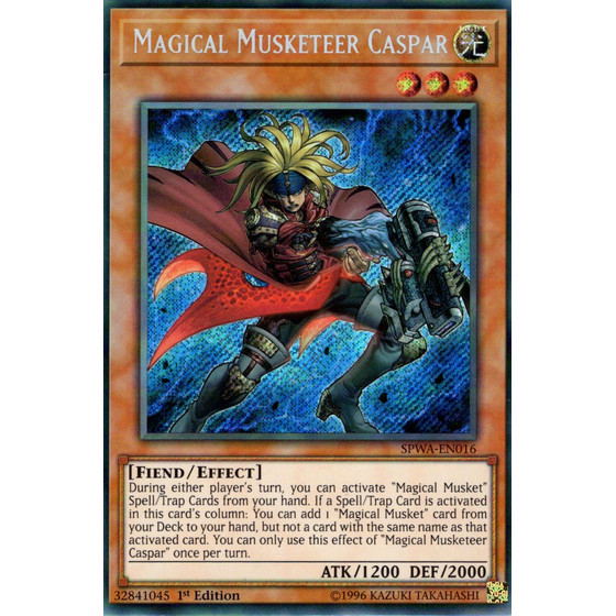 Magical Musketeer Caspar - SPWA-EN016 - Secret Rare