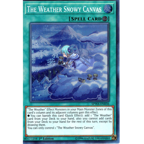 The Weather Snowy Canvas - SPWA-EN036 - Super Rare