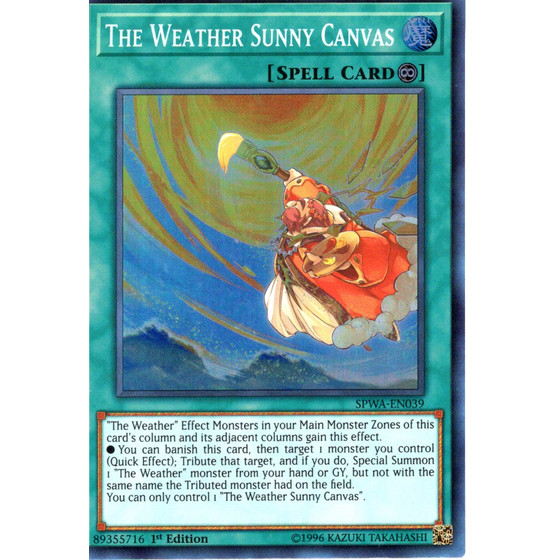 The Weather Sunny Canvas - SPWA-EN039 - Super Rare