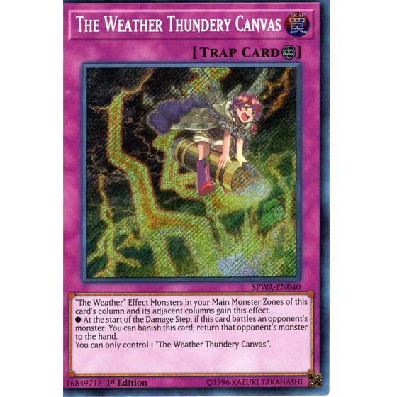 The Weather Thundery Canvas - SPWA-EN040 - Secret Rare