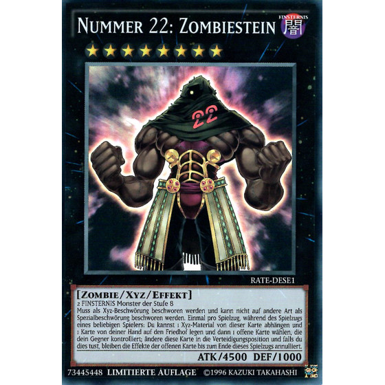 Nummer 22: Zombiestein - RATE-DESE1 - Super Rare