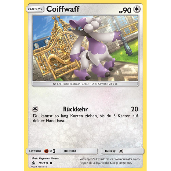 Coiffwaff - 99/131 - Reverse Holo