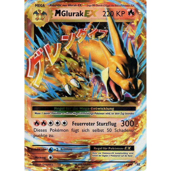 M Glurak-EX - 13/108 - EX - Good