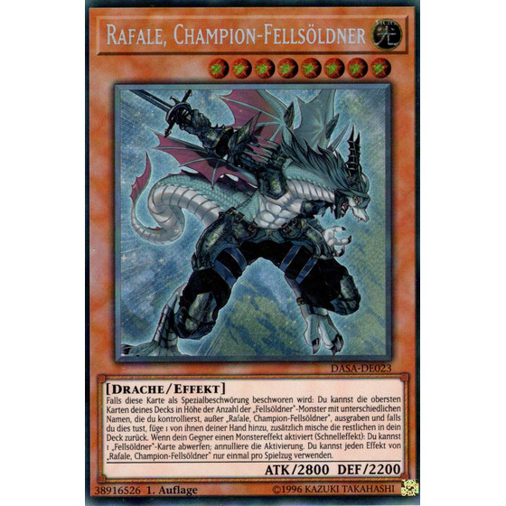 Rafale, Champion-Fellsöldner - DASA-DE023 - Secret Rare