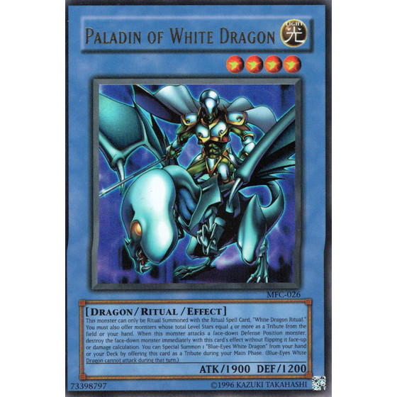 Paladin of White Dragon - MFC-026 - Ultra Rare - Good