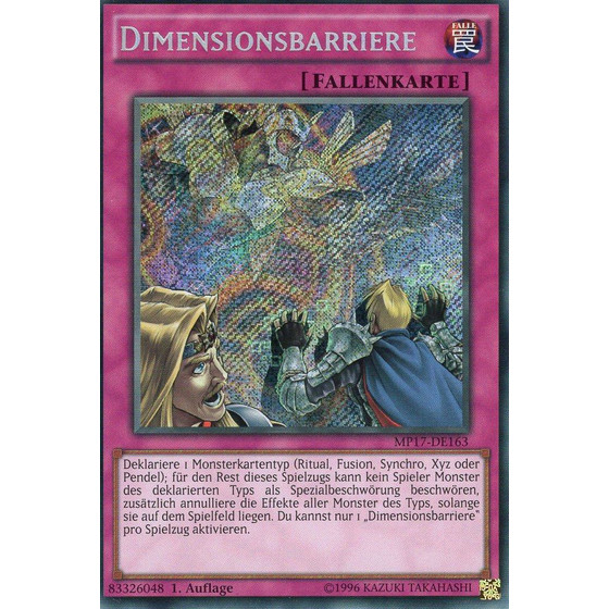 Dimensionsbarriere - MP17-DE163 - Secret Rare - Good