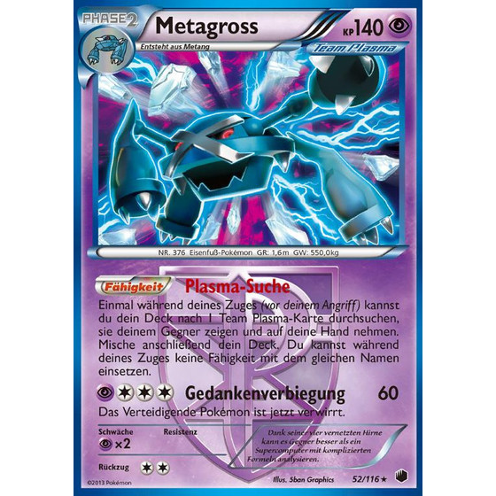 Metagross - 52/116 - Holo