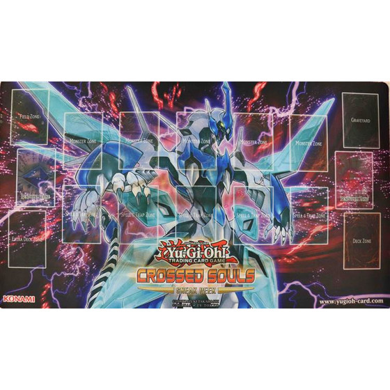 Crossed Souls Sneak Peek Playmat - Glasflügel Synchro Drache