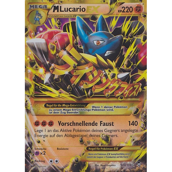 M Lucario-EX - 113/111 - Shiny - Played