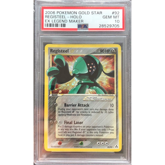 Registeel Star - 92/92 Legend Maker - PSA 10 Goldstar GEM MT